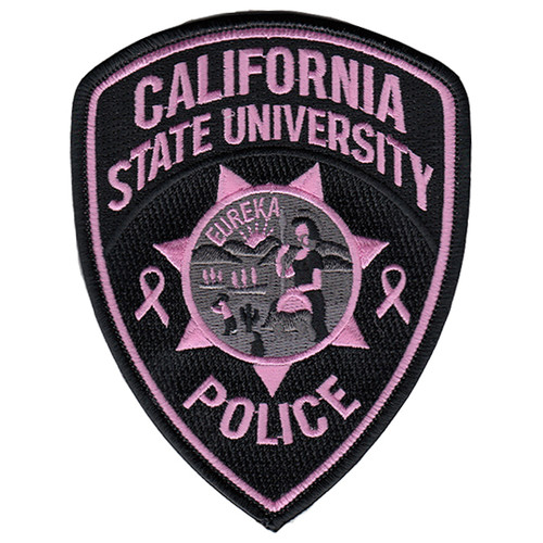 """Pink Line - California State University Police, PINK, 3-13/16x4-7/8"""""""