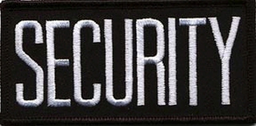 """SECURITY Chest Patch, White/Black, 4x2"""""""