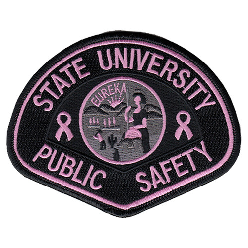 """Pink Line - California State University Public Safety, PINK, 4-1/2x3-1/2"""""""