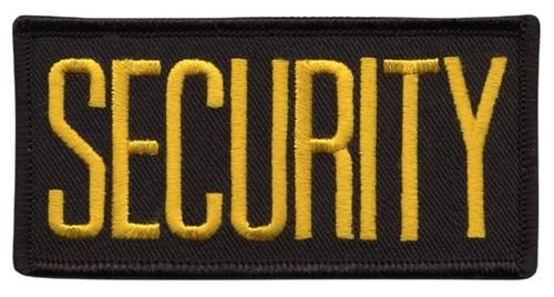"SECURITY Chest Patch, Medium Gold/Black, 4x2"""