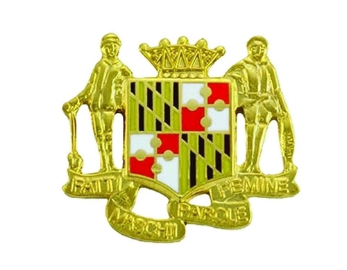 """Maryland Crest, 1 Post & Clutch Back, Pairs, 1x7/8"""""""