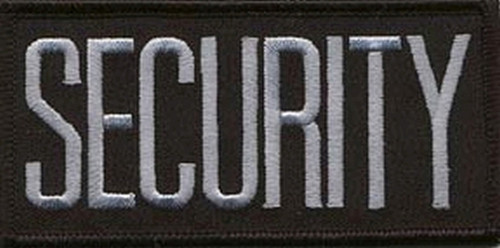 """SECURITY Chest Patch, Grey/Black, 4x2"""""""