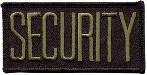 """SECURITY Chest Patch, O.D./Black, 4x2"""""""