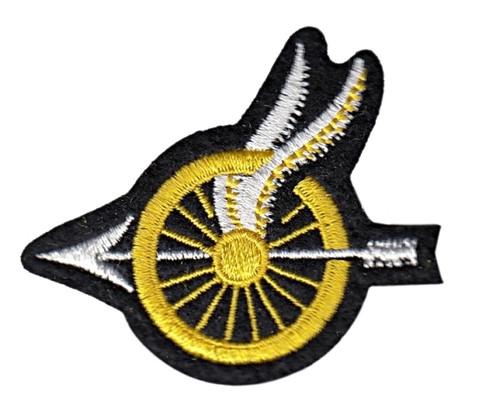 """Wheel w/Wings Shoulder Patch, Arrow Points, 2-1/8x1-3/4"""""""