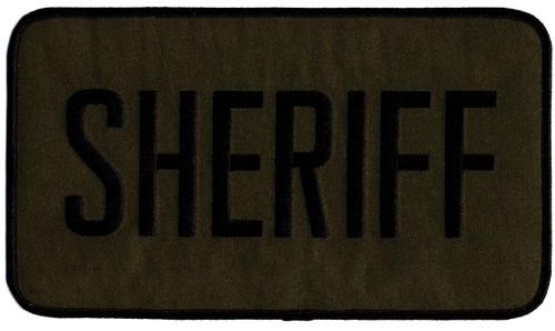 """SHERIFF Back Patch, Black/O.D., 9x5"""""""