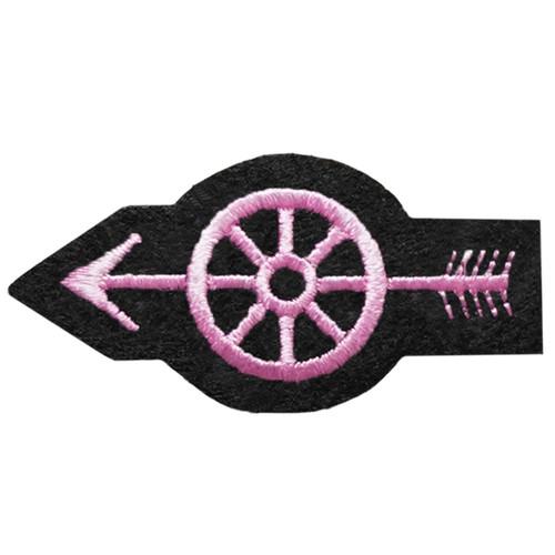 """Pink Line - Wheel w/Arrow Patch, 2-1/4 X 1-1/8"""""""