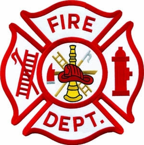 """FIRE DEPT. Collector  Patch, 12"""" Circle"""
