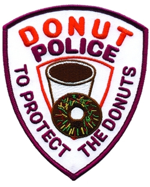 """DONUT POLICE Collector Patch, 4x5"""""""