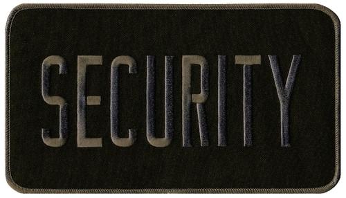 "SECURITY Back Patch, Grey/Black, 9x5"""