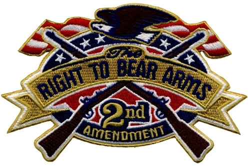 """RIGHT TO BEAR ARMS Collector Patch, 5x3-1/4"""""""