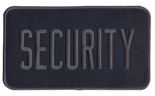 "SHERIFF Back Patch, Grey/Midnight Navy, 9x5"""