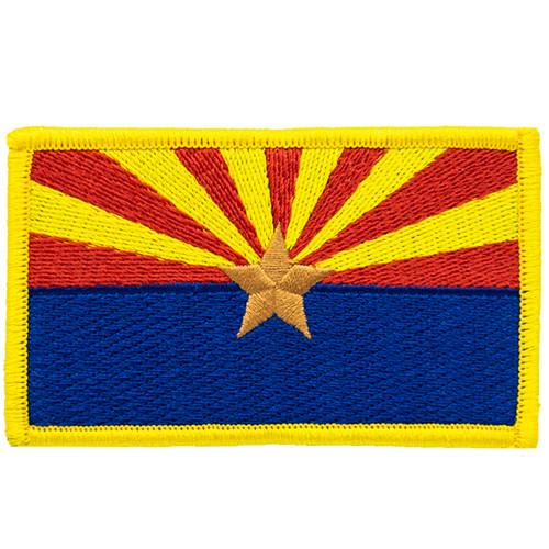 """Arizona State Flag Patch, 3-1/2x2"""""""