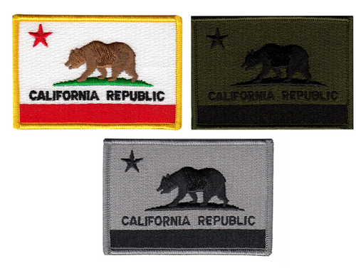 """California State Flag Patch, 3-1/2x2-3/8"""""""