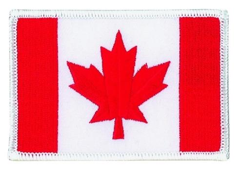 "Canada Flag Patch, 3-3/8x2-1/4"""