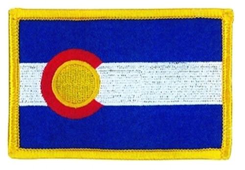 "Colorado State Flag Patch, 3-5/8x2-3/8"""