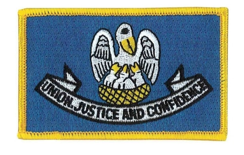 """Louisiana State Flag Patch, 3-1/2x2-1/4"""""""