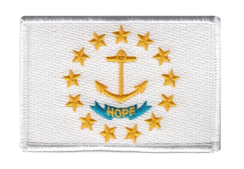 """Rhode Island State Flag Patch, 3-3/8x2-1/4"""""""