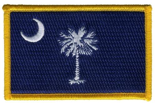 "South Carolina State Flag Patch, 3-1/2x2-1/4"""