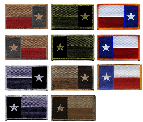 """Texas State Flag Patch, 3-3/8x2"""""""