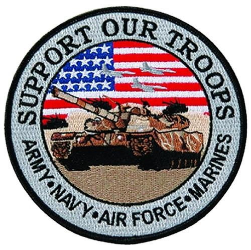 """SUPPORT OUR TROOPS Collector Patch, 5"""" Circle"""