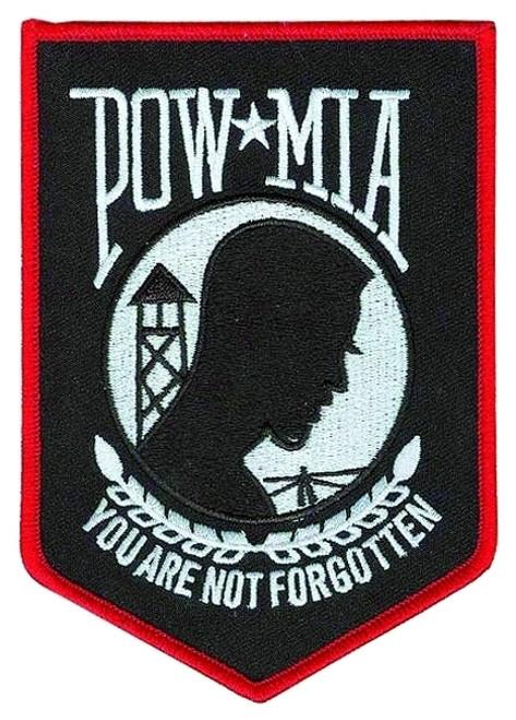 """POW MIA Tribute Patch, POW MIA, 3-9/16x5"""""""