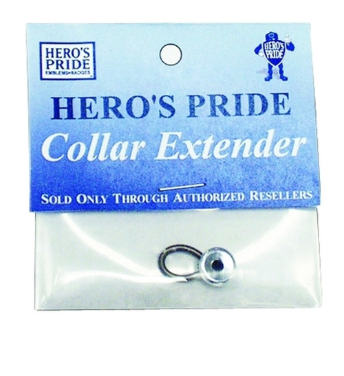 """Collar Extenders (Adds up to 1/2"""" to shirt size), Nickel, 10mm"""