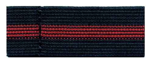 """Badge Mourning Band, Pack of 10, Red Stripe, 3/4"""" H"""