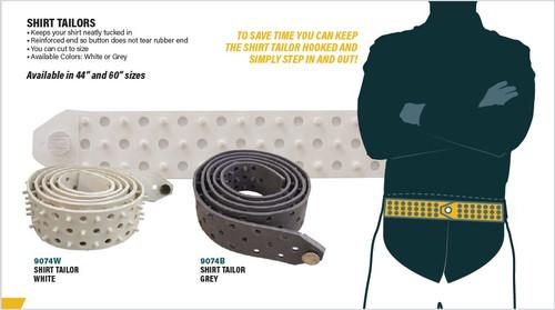 Shirt Tailor Rubber Belt (White or Grey)