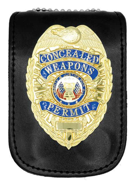 "Badge Holder ID Case w/ Magnetic Closure, U-Shape, 3x4-1/2"""