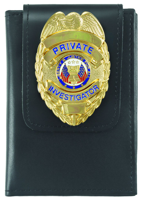 Deluxe Double ID Case with Universal Badge Holder