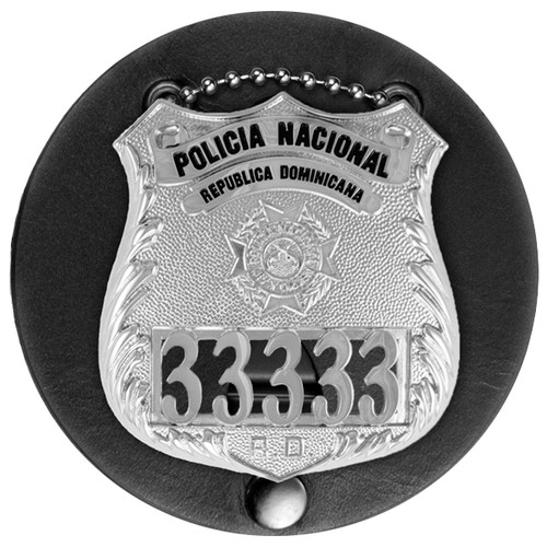 "Universal Medium Round Badge Holder, Round, 3-1/4"""