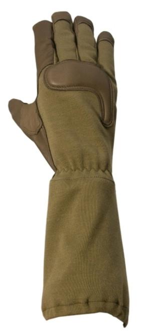Long Gauntlet Combat Glove, Coyote Tan