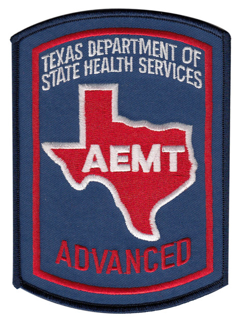 "TEXAS ADVANCED AEMT Shoulder Patch, Full Color, 3-5/8x5"""