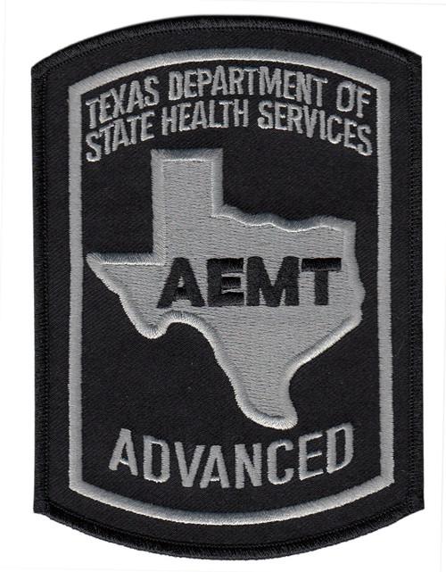 "TEXAS ADVANCED AEMT Shoulder Patch, O.D., 3-5/8x5"""