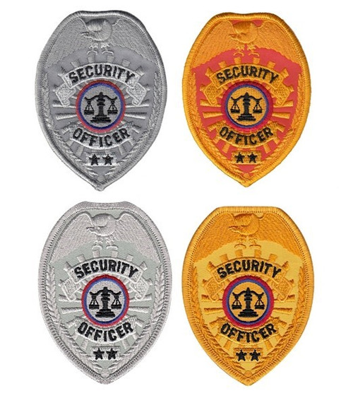 """SECURITY OFFICER Badge Patch, 2-1/2x3-1/2"""""""