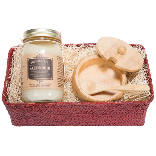 Holy City Revitalizing Dead Sea Salt Hand and Body Scrub In a gift set