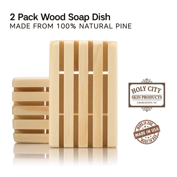 MADE IN THE USA - Handmade in the USA by a small company. Soap dish dimensions in inches are: 4 L X 2 ½ W X ¾ H