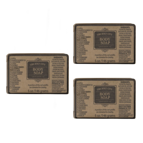 Holy City Skin Care 3 Pack of Bath Soap Bars