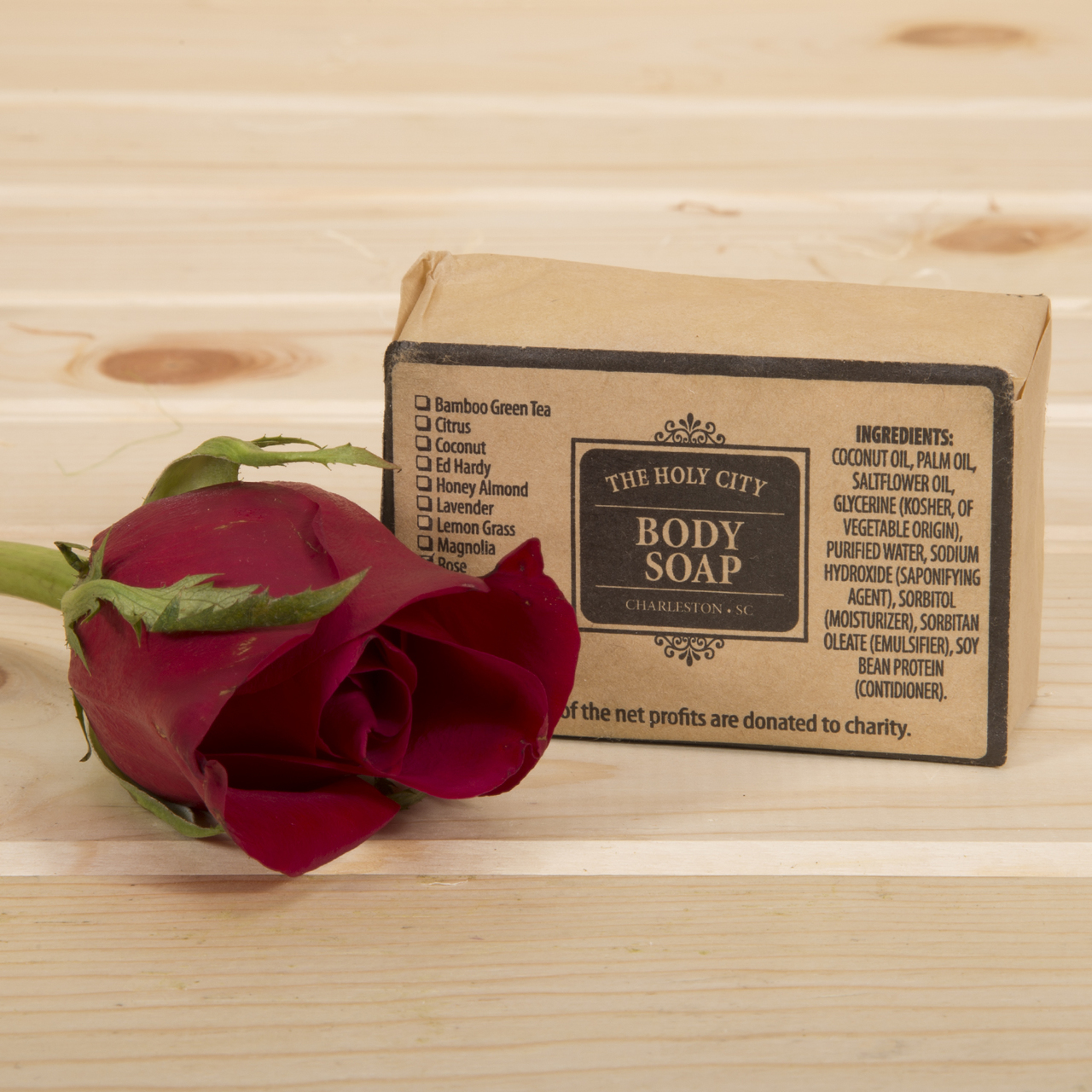 Each Set comes with our Signature Holy City Soap Bar