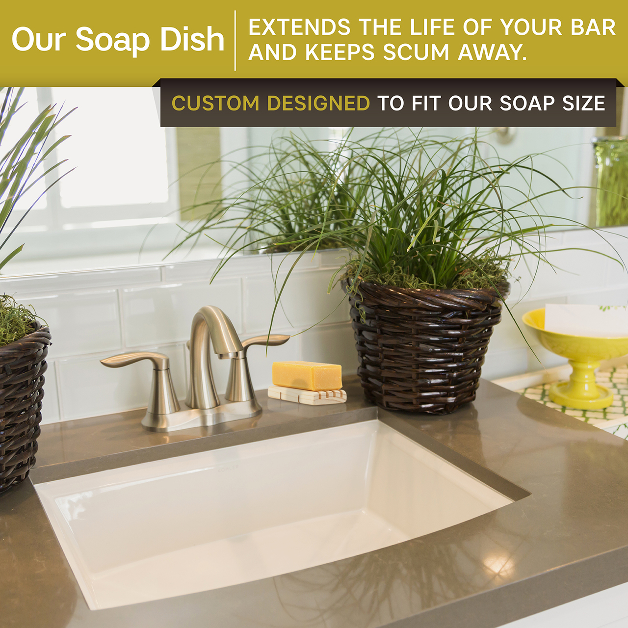 2 Pack Wood Soap Dish Holder with Soap Bars, 100% Natural Pine, No Chemical Varnish, Lacquer or Stain is Used, Custom Made to Fit Our Soaps Exactly