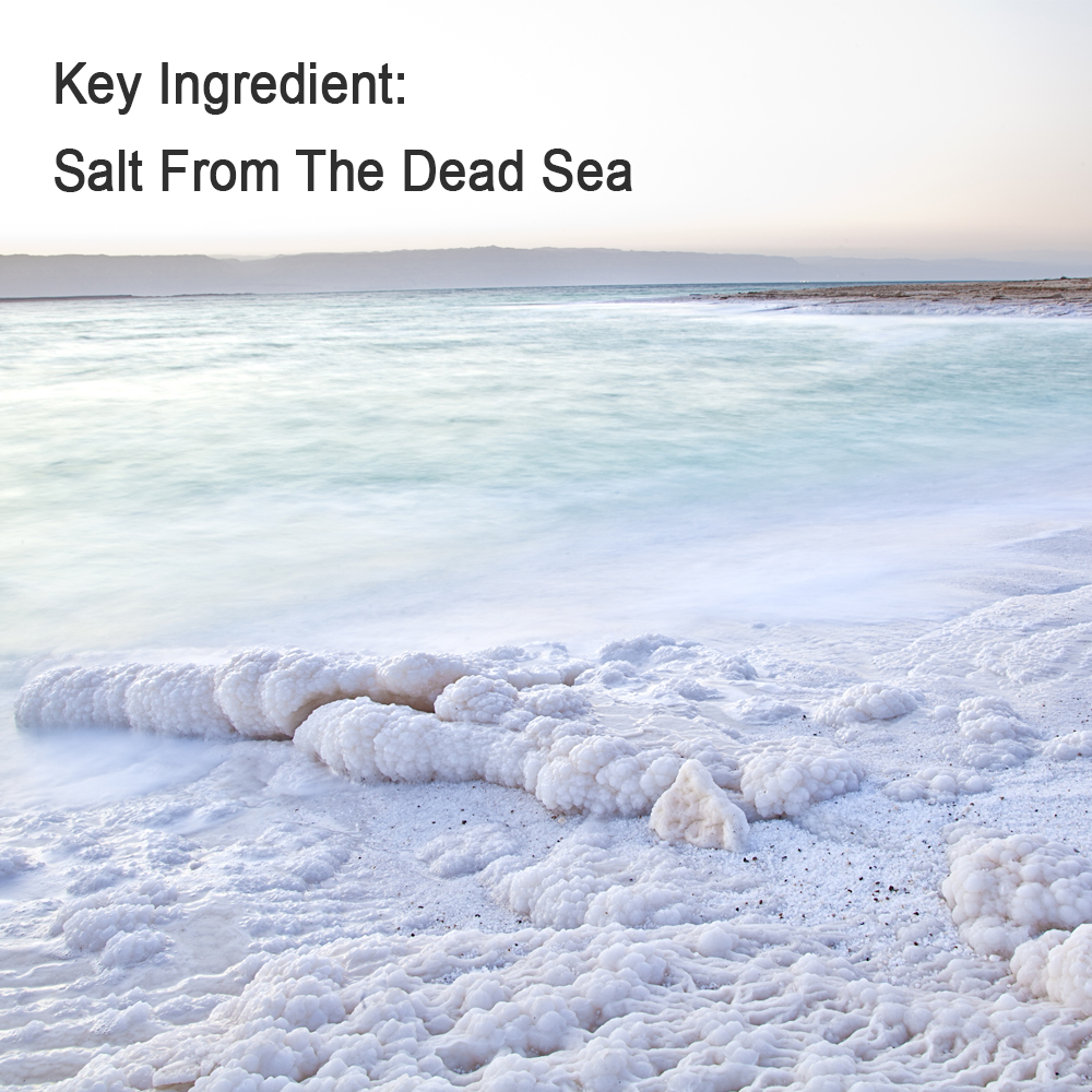 GENTLE, HEALING EXFOLIATION - BUFF AWAY OLD, DRY, DEAD SKIN: Over 20+ healing minerals in dead sea salt make this an excellent natural exfoliator and skin polisher. Our 100% pure dead sea salt is grounded FINE providing gentle but highly effective exfoliation. Your skin will turn silky smooth as dead skins cells are massaged away.