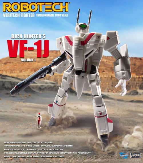 Robotech VF-1 Transformable Veritech Fighter with Micronian Pilot - RICK HUNTER VOLUME 1