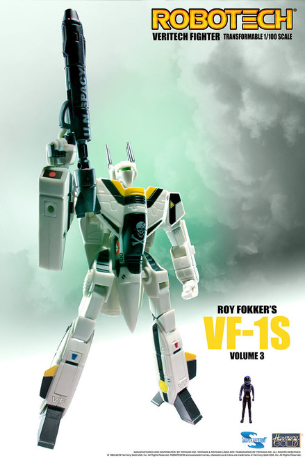 Robotech VF-1 Transformable Veritech Fighter with Micronian Pilot - ROY FOKKER VOLUME 3