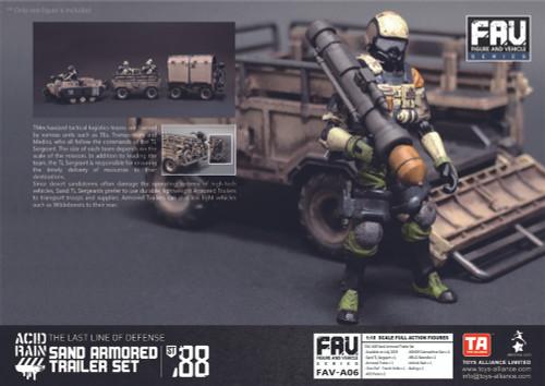 Acid Rain Sand Armored Trailer Set