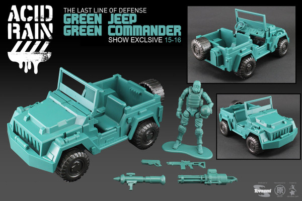Comic Con 2015 Exclusive - Acid Rain Green Jeep + Green Sol Commander