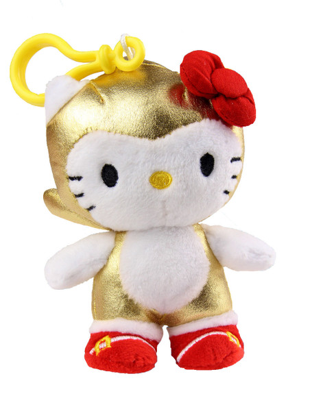 Comic Con 2016 Exclusive: Gold Sonic x Hello Kitty Clip On Plush