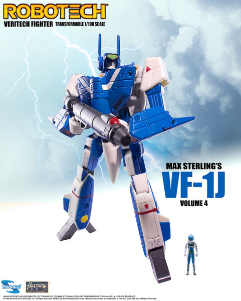 Robotech VF-1 Transformable Veritech Fighter with Micronian Pilot - MAX STERLING VOLUME4
