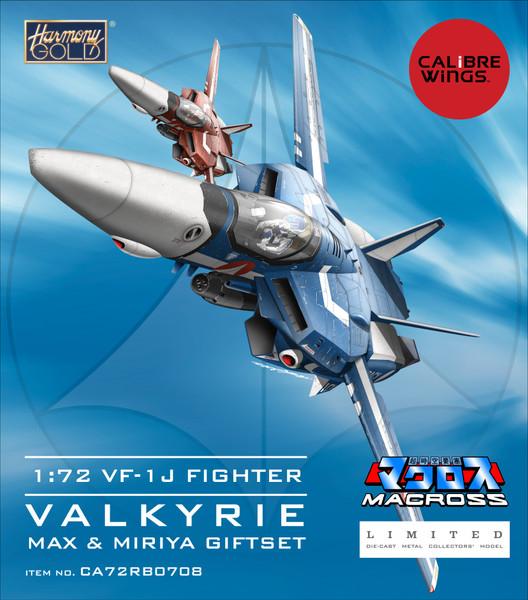 Macross Calibre Wings Max & Miriya 1:72 VF-1J Fighter Valkyrie Gift Set