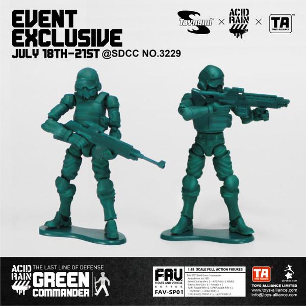 Acid Rain Green Commander 2019 SDCC Exclusive