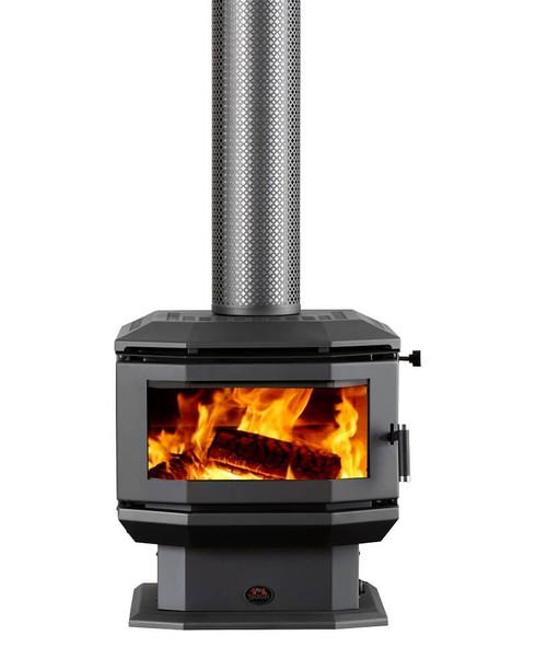 Saxon Walnut Freestanding Wood Heater